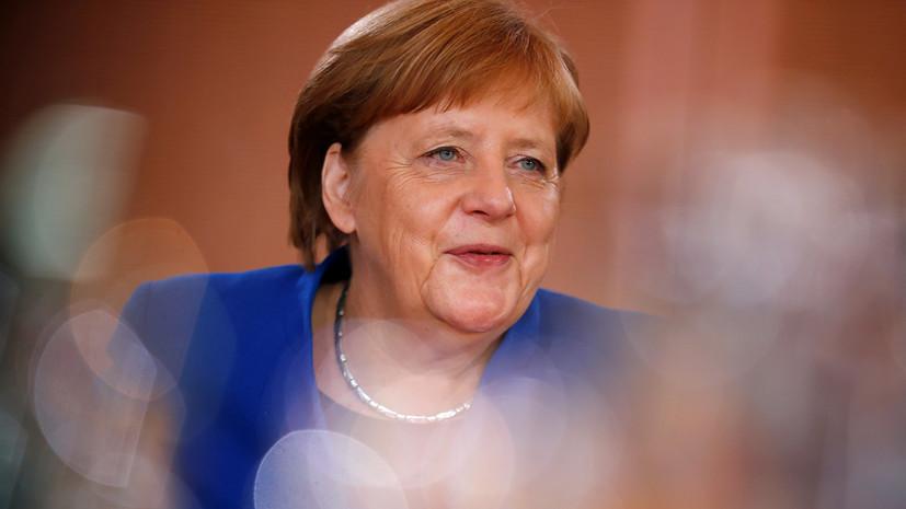Меркель поздравила Зеленского с вступлением в должность