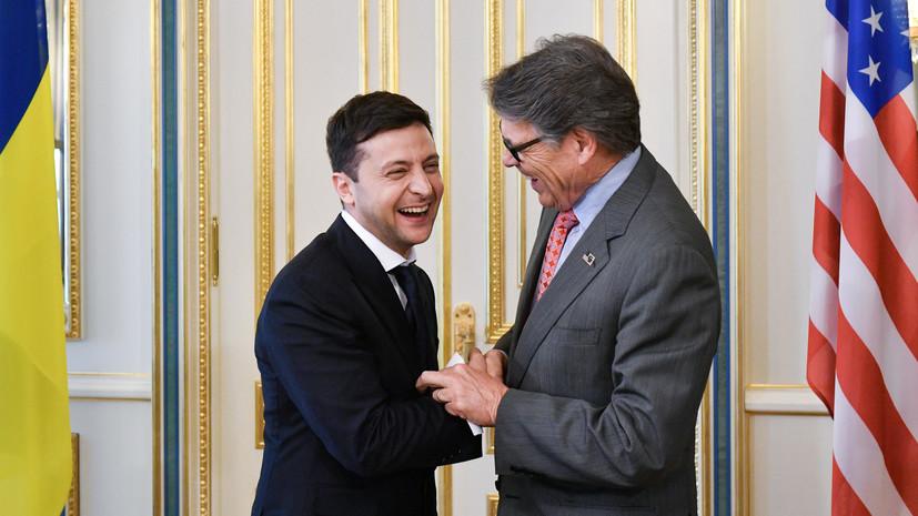 Зеленский обсудил с министром энергетики США импорт американского СПГ