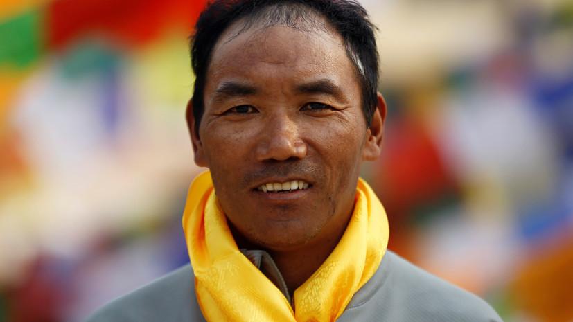 Непальский шерпа дважды за неделю поднялся на Эверест