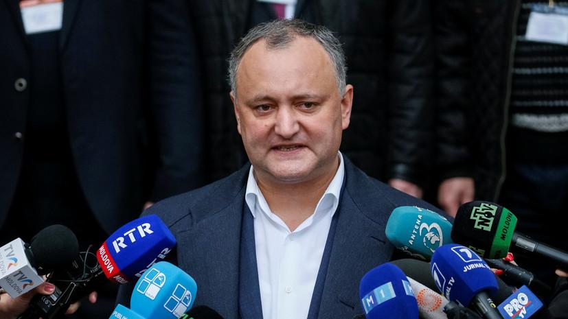 Додон пригрозил парламенту страны роспуском