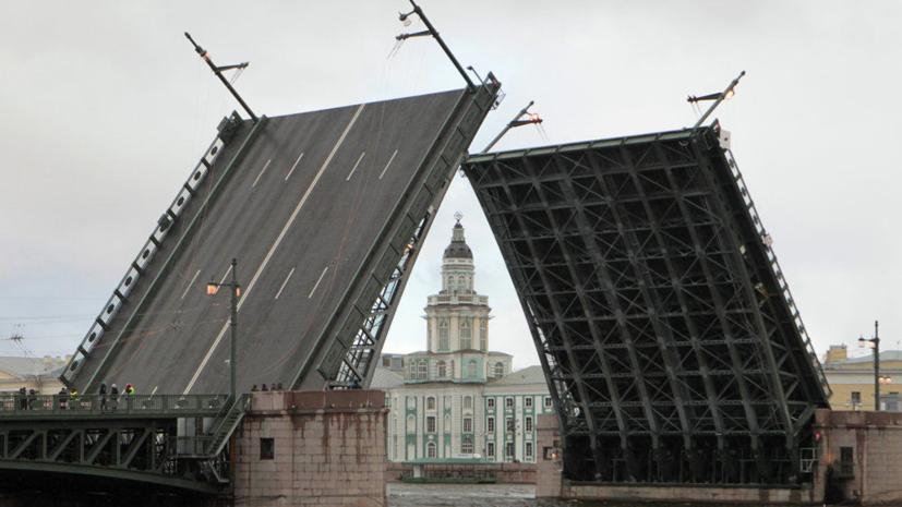В Петербурге изменят график разводки Дворцового моста из-за Дня города