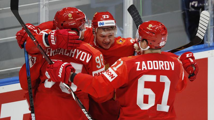 Сочетания звеньев сборной России по хоккею остались без изменений перед матчем с Финляндией