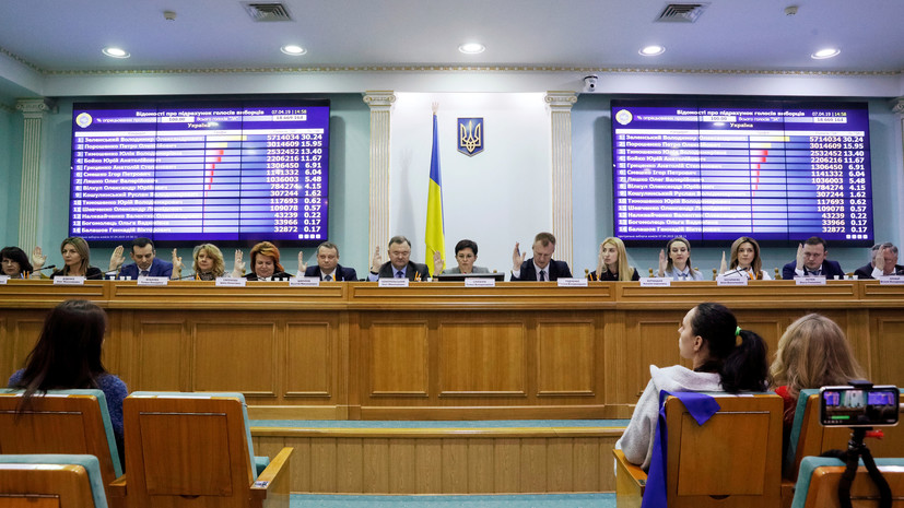ЦИК Украины утвердила план проведения досрочных выборов в Раду