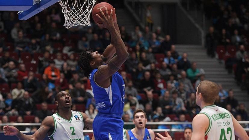 Баскетболист «Зенита» Рейнольдс дисквалифицирован на три матча Единой лиги ВТБ