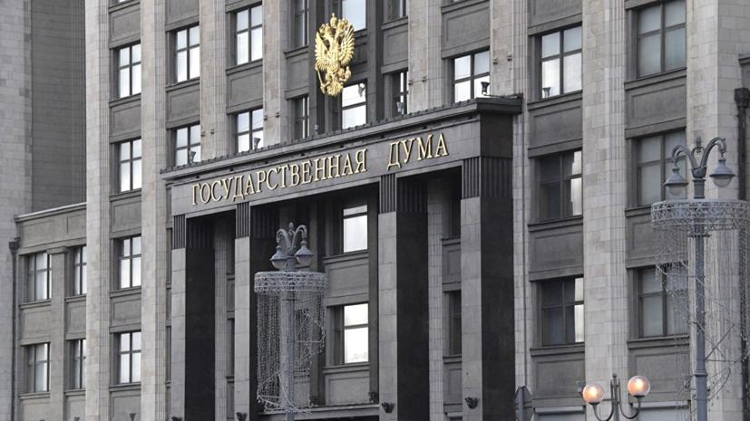 В Госдуме оценили заявление Киева о «гамбургских» санкциях против Москвы