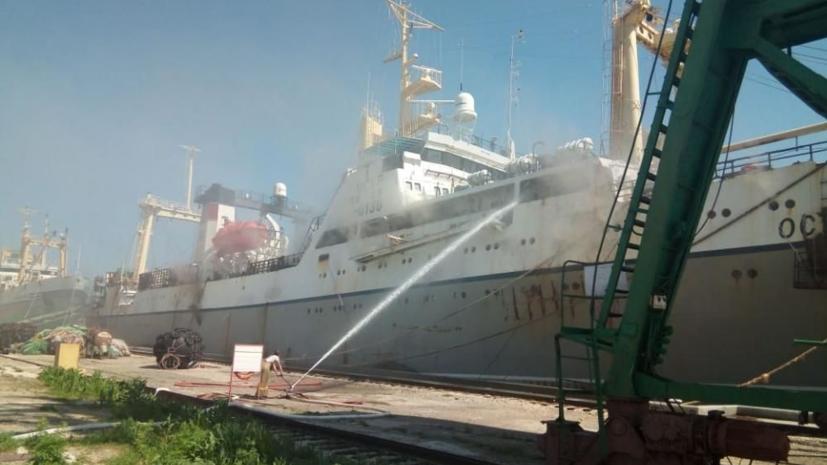 В Приморье произошёл пожар на рыболовном траулере