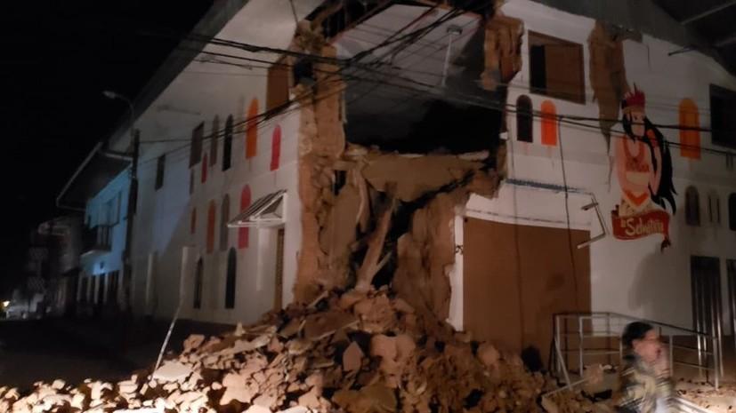 Власти Перу рассказали о последствиях землетрясения