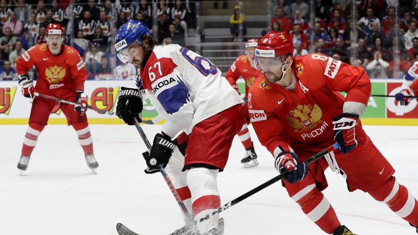 Чехия вышла вперёд в матче с Россией за третье место на ЧМ по хоккею