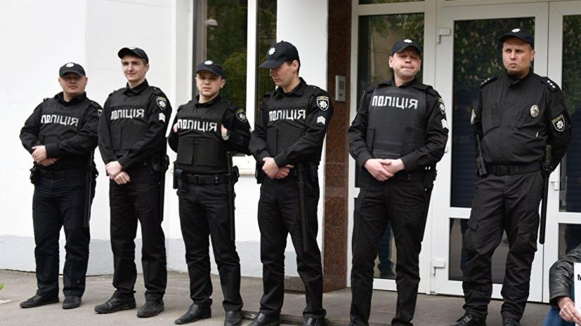 В Киеве к зданию МВД пришли протестующие против задержания в Ровно