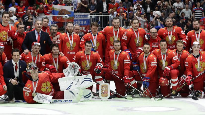 Колобков поздравил российских хоккеистов с бронзовыми медалями ЧМ