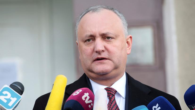 Додон распустит парламент при отказе поддержать курс на сближение с Россией