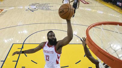 Харден доигрывал второй матч плей-офф НБА с «Голден Стэйт» с повреждением глаза