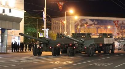 В Калининграде прошла ночная репетиция парада Победы