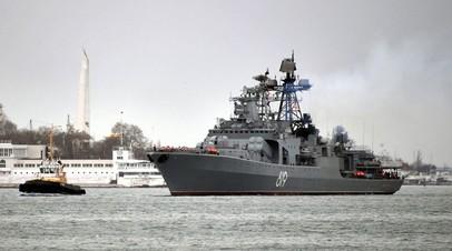 Большой противолодочный корабль «Североморск» завершил выполнение боевых задач в Средиземном море