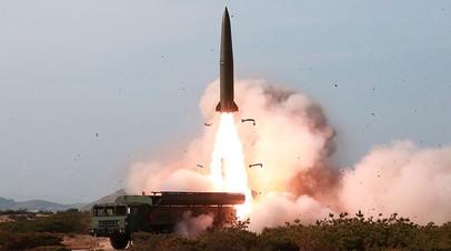 Пуск ракеты малой дальности в КНДР