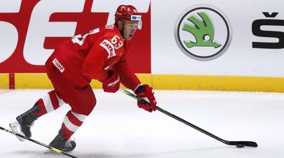 Дадонов открыл счёт в матче сборных России и Австрии на ЧМ по хоккею