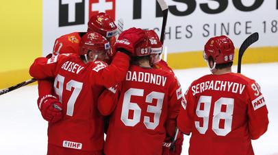 Дадонов оформил второй дубль на ЧМ-2019 по хоккею