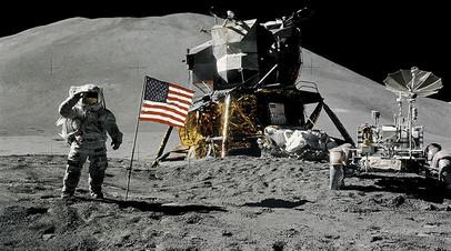 Астронавт Джеймс Ирвин на поверхности Луны, миссия «Аполлон-15», 1971 год