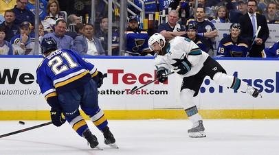«Сан-Хосе» повёл в серии плей-офф НХЛ с «Сент-Луисом», несмотря на гол Тарасенко