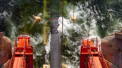 Работы по укладке газопровода «Северный поток — 2»