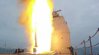 Пуск противоракеты SM-2