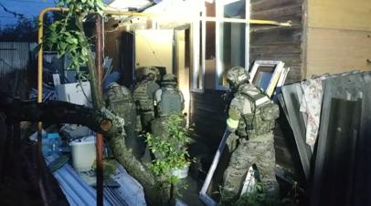 Опубликовано видео с места ликвидации боевиков под Владимиром