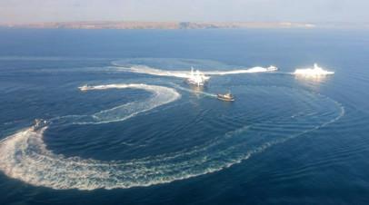 Кадры провокации кораблей ВМС Украины в Керченском проливе
