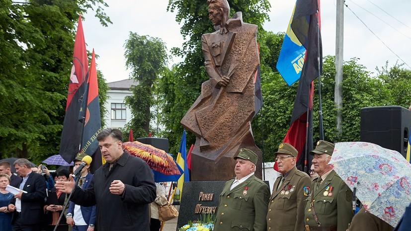 Польша выразила протест из-за открытия на Украине памятника Шухевичу