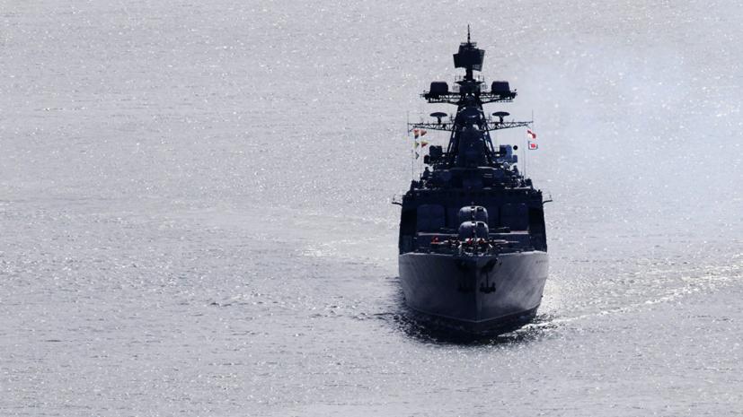 Крейсер США подрезал российский корабль в Восточно-Китайском море