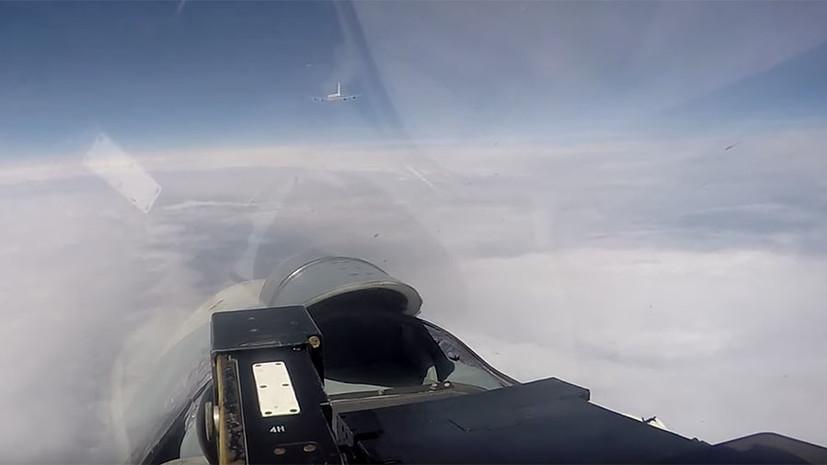 В небе над Балтикой: российский Су-27 перехватил самолёты-разведчики ВВС США и Швеции