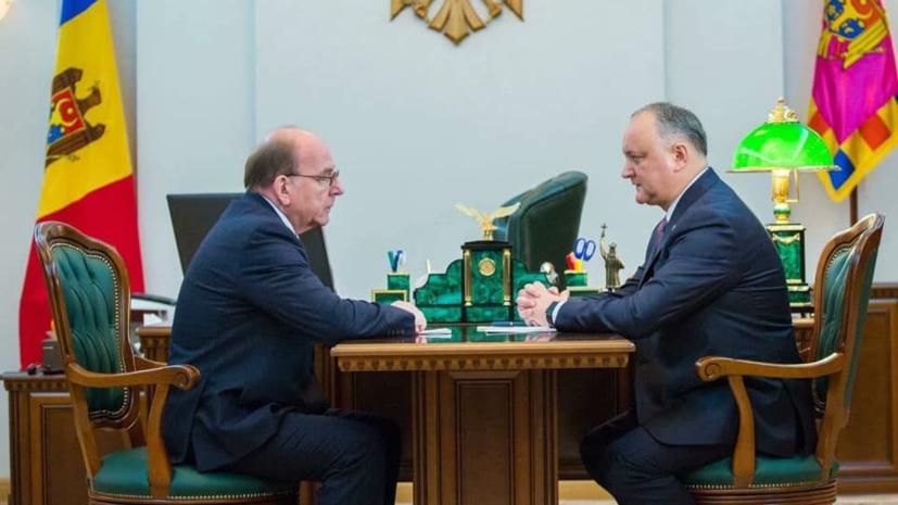 Додон встретился с российским послом
