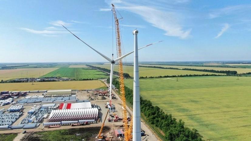 На Адыгейской ВЭС завершили монтаж первой ветроустановки