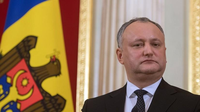 На выборах в Молдавии у Додона очень сильные позиции