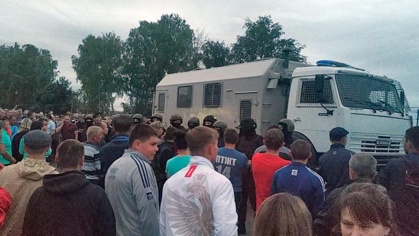 Опубликованы кадры задержания трёх участников драки в Чемодановке