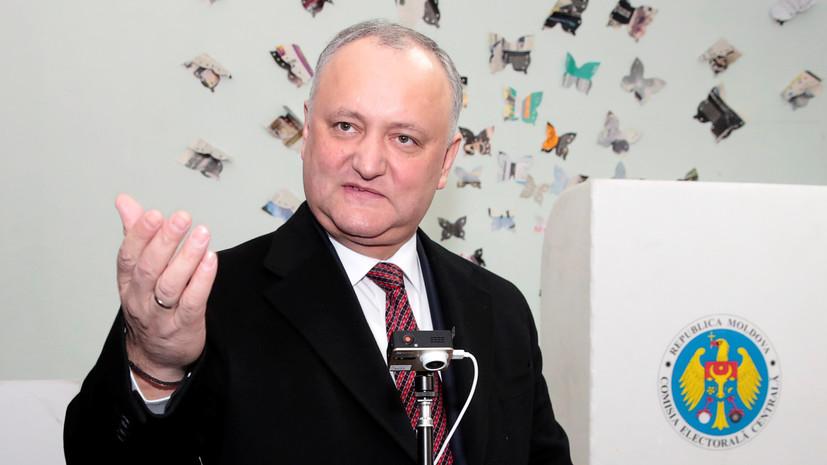Додон оценил отношения Молдавии и России при новом правительстве