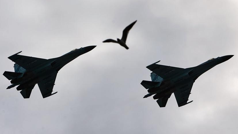 Российские Су-27 перехватили бомбардировщики ВВС США