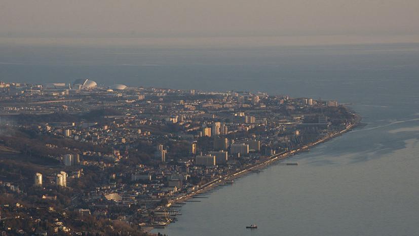 В Сочи туриста унесло в море на надувном матрасе