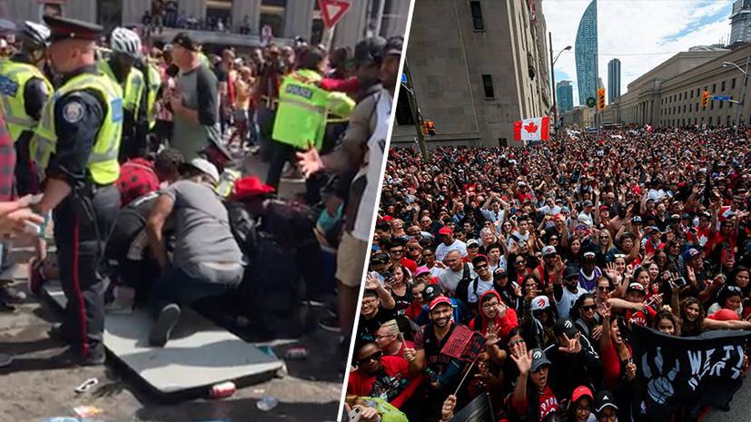 Четверо раненых и трое арестованных: что известно о стрельбе на параде по случаю победы «Торонто» в плей-офф НБА