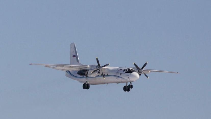 В аэропорту Якутска самолёт Ан-24 выкатился за пределы взлётно-посадочной полосы