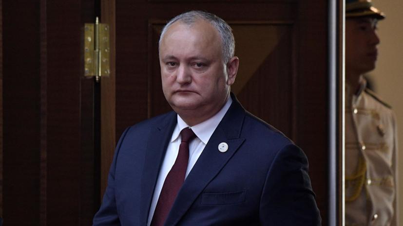 Додон поблагодарил Россию за помощь в преодолении кризиса в Молдавии