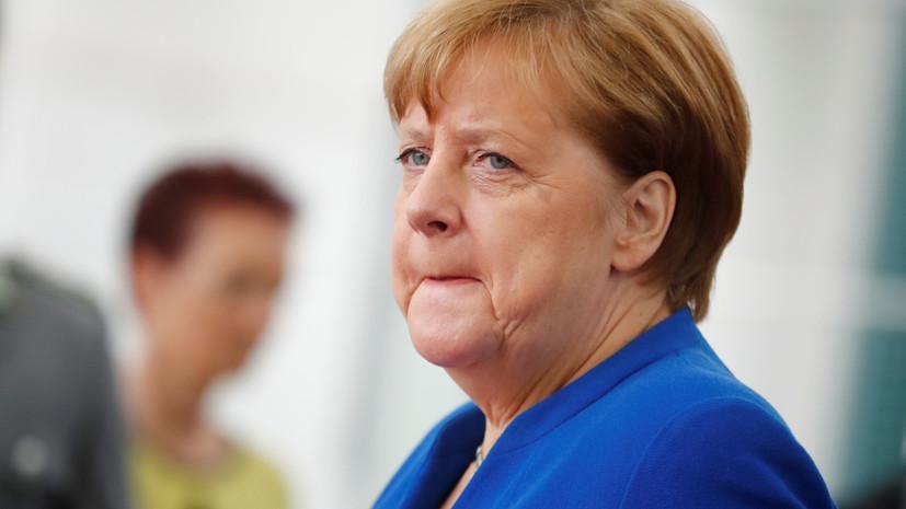 Меркель стало плохо перед переговорами с Зеленским