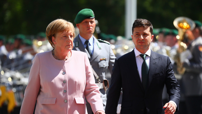 Зеленский заявил, что рядом с ним Меркель была в безопасности