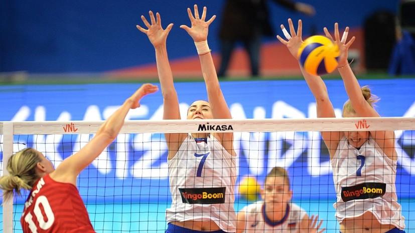 Женская сборная России по волейболу потерпела поражение от США в Лиге наций