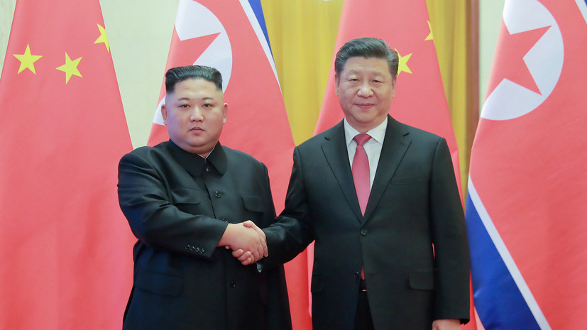 Си Цзиньпин встретился с Ким Чен Ыном