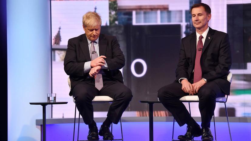 Джонсон и Хант вышли в финальный тур борьбы за пост премьера Британии