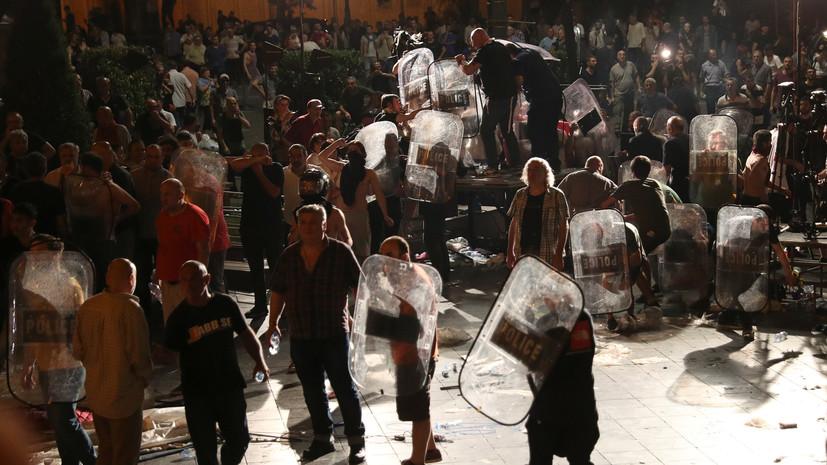 МВД Грузии назвало протесты в Тбилиси попыткой массового переворота