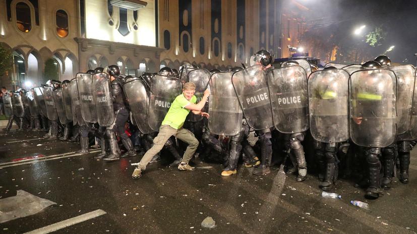 Более 300 человек задержаны за время акций протеста в Тбилиси