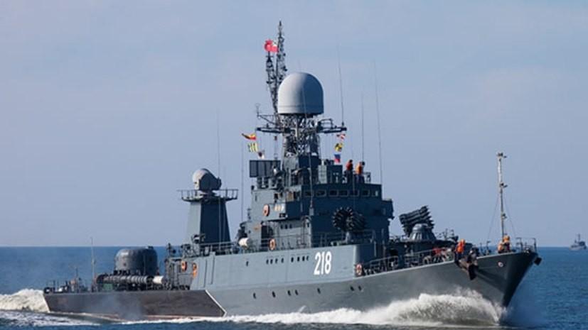 Корабли ВМФ провели артиллерийские стрельбы в Финском заливе
