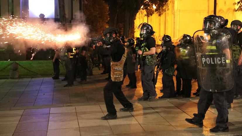 В Грузии арестовали более 120 участников протестов в Тбилиси