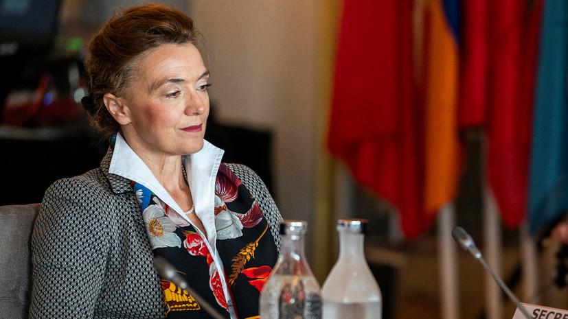Новым генсеком Совета Европы избрана Мария Пейчинович-Бурич